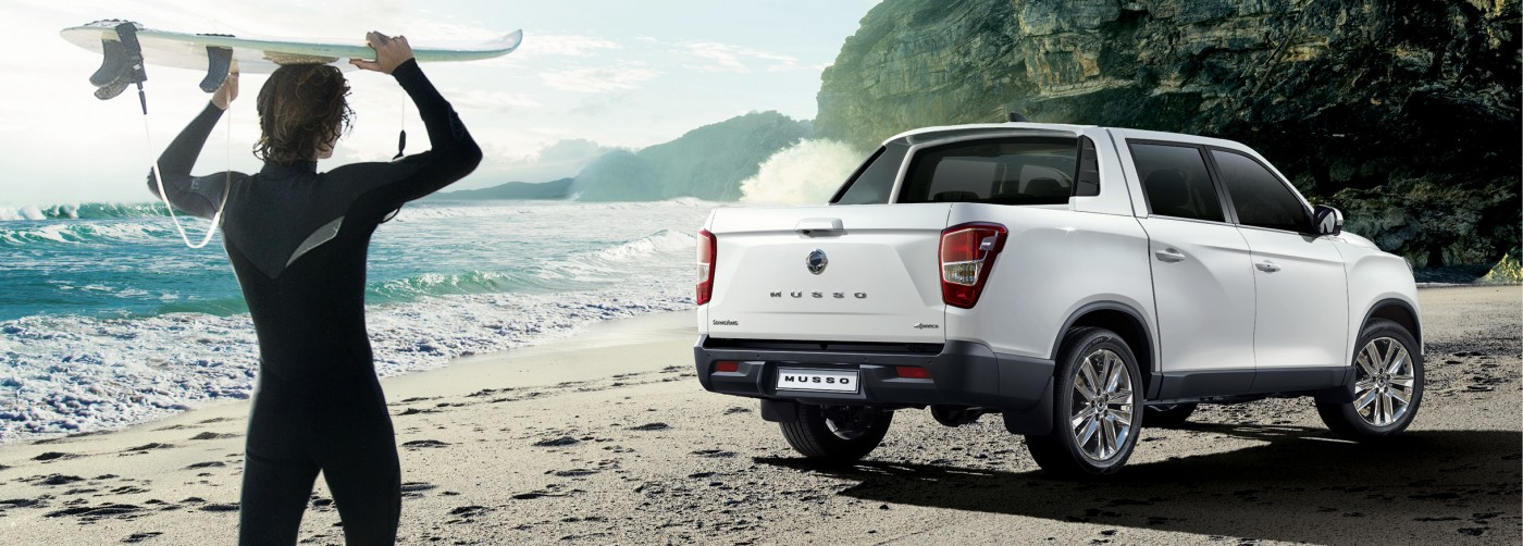SsangYong Musso - Opvallende look. Stoere uitstraling.